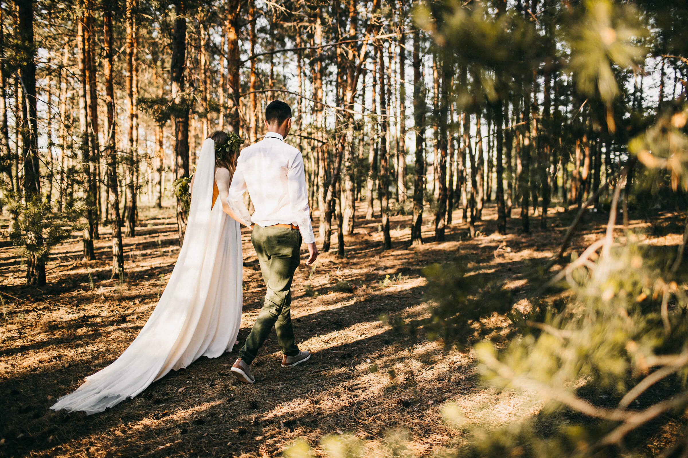 """WEDDING IN THE WOODS"" ДИМА И НАСТЯ фото AD 718"