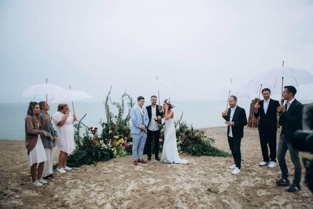 """СВАДЬБА НА МОРЕ """"BEACH WEDDING PARTY"""" ДЕНИС И ОЛЯ фото Wedding 666 min"""